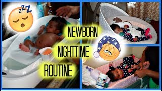 Newborn night time routine | AdrianneMG