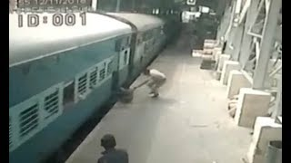 Police officer saves a woman from falling underneath moving train - Daily News
