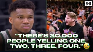 Giannis On Suns Fans Trolling Him During Free Throws: