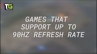 Top 5 mobile games that support up to 90Hz refresh rate
