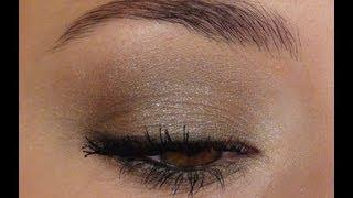 Maquillage soirée kaki et doré | Tutoriel Collection Graphic Expression de Clarins