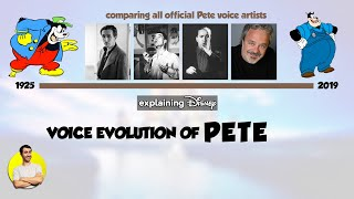 Voice Evolution of PETE, Disney's Oldest Character, Over 94 Years (1925-2019) Explained