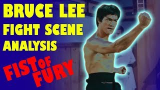 BRUCE LEE fight scene analysis FIST OF FURY (The Chinese Connection)
