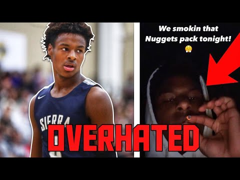 BRONNY JAMES Is The Most OVERHATED High School Hooper After Getting CAUGHT SMOKING!