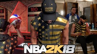 NBA 2K18 MY CAREER - EXPLORING THE NEIGHBORHOOD! Mini Basketball, Barbershop, Foot Locker Ep. 1