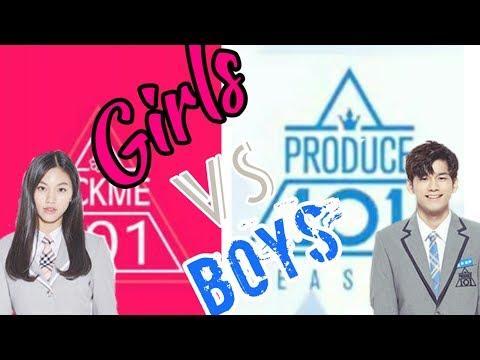 Boys Vs Girls -Produce 101(CUBE,PLEDIS,Jellyfish,Starship,Fantagio )