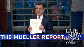 Colbert Gets His Copy Of The Mueller Report