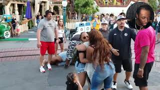 DisneyLand Fight At Toontown (Two Families Brawl)