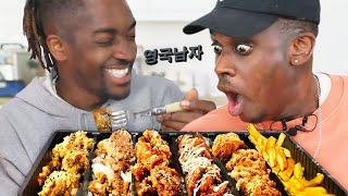 한국 치맥 제대로 처음 먹어보고 거의 울 뻔 한 영국 래퍼들!?