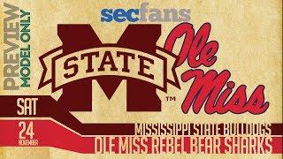 Egg Bowl - Mississippi State vs Ole Miss - 2018 - Computer Model, Preview, & Prediction