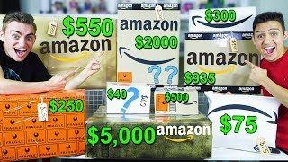 CHEAP VS EXPENSIVE AMAZON MYSTERY BOXES! (UNBOXING IPHONE'S AND IPADS?) HUGE BOX OPENING! - GIVEAWAY