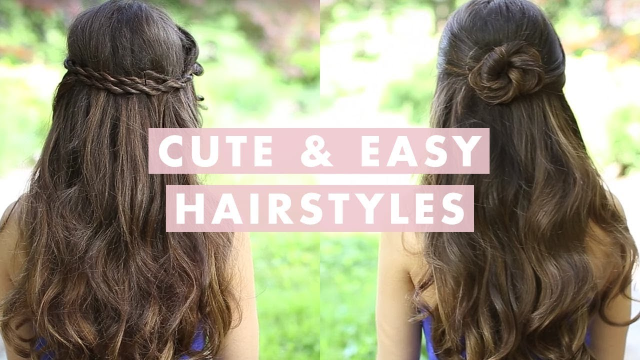 easy hairstyles for thin hair youtube haircuts