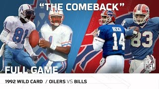 1992 AFC Wild Card: Houston Oilers vs. Buffalo Bills |