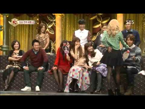 Hyoyeon dancing tango with Kwanghee - Star King (26th, Jan, 2013)