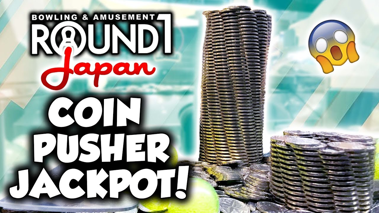 HUGE coin pusher tower jackpot at Round 1 arcade in Japan!