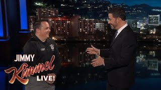 Jimmy Kimmel Puts Federal Employees to Work During Government Shutdown - Prison Guard