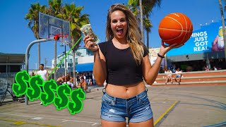 CHALLENGING STRANGERS to a 3PT CONTEST!! *PART 2 at VENICE BEACH*