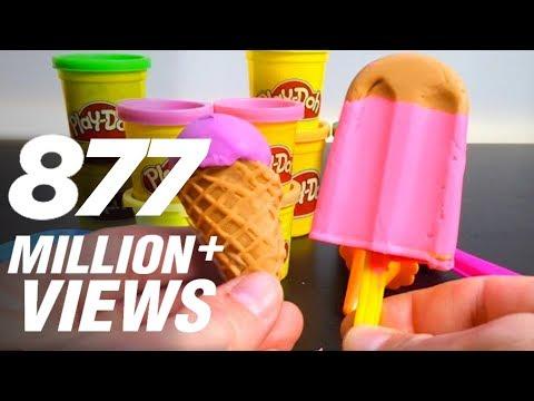 Play Doh Ice cream cupcakes playset playdough by Unboxingsurpriseegg