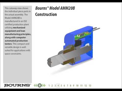 Bourns Model AMM20B Non-Contacting Multiturn Rotary Position Sensor Training