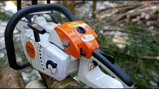 Testing Stihl's Smallest Pro Chainsaw MS 201C - A Little Beast
