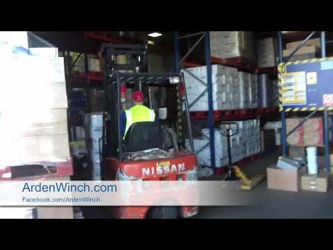Watch the Arden Winch Forklift hard at work