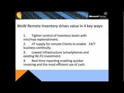WMS Remote Inventory iPhone Android Windows 8 - Demo - Appolis - WithoutWire (WoW)