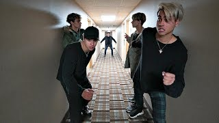 WE SNUCK INTO A SPOOKY HOTEL! (CAUGHT)
