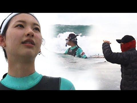 """김진경, 제작진이 말린 수중 사냥 """"위험하니 나와!"""" @김병만의 정글의 법칙 308회 20180323"""