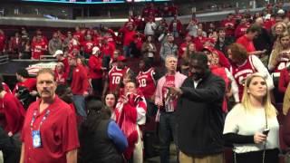 Howard Moore sings Varsity as Bo waves good-bye