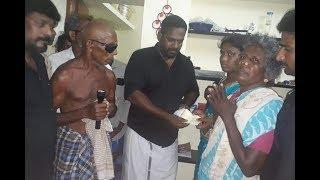 Robo Shankar   ராணுவ வீரர் குடும்பத்துக்கு ரூ.1 லட்சம் வழங்கிய ரோபோ சங்கர்