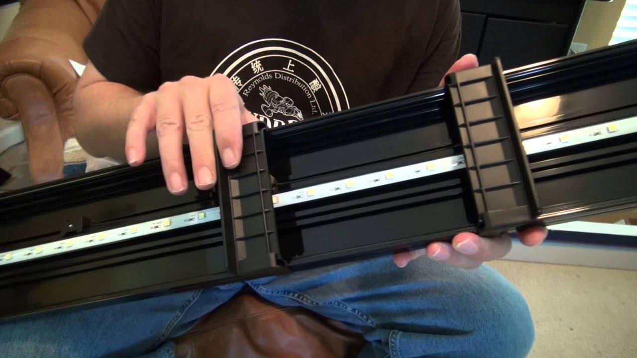 Aqueon 48 Quot Led Modular Light Unboxing Setup Youtube