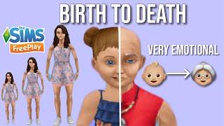 BIRTH TO DEATH LIFE STORY! || Sims FreePlay || SimsAreBae