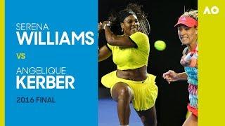 AO Classics: Serena Williams v Angelique Kerber (2016 F)