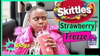 Skittles Strawberry Freeze | Family Vlogs | Javlogs