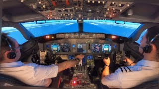 Boeing 737-800 Rejected Takeoff (Engine Fire) & Evacuation | MCC Training at Simtech | Cockpit View