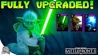 FULLY UPGRADED YODA! ALL EPIC STAR CARDS! - Star Wars Battlefront 2