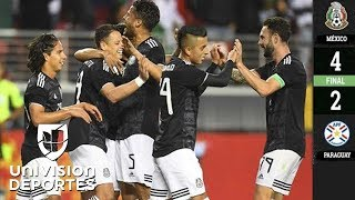 México 4-2 Paraguay - GOLES Y RESUMEN - AMISTOSO