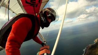 Ametsa volando en la costa gipuzkoana.