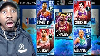 97 OVR PLATINUM MASTERS IN CRAZY PLAYOFF PACK OPENING! NBA Live Mobile 18 Gameplay Ep. 46