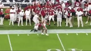 DeVonta Smith great sideline catch Alabama vs Ohio State