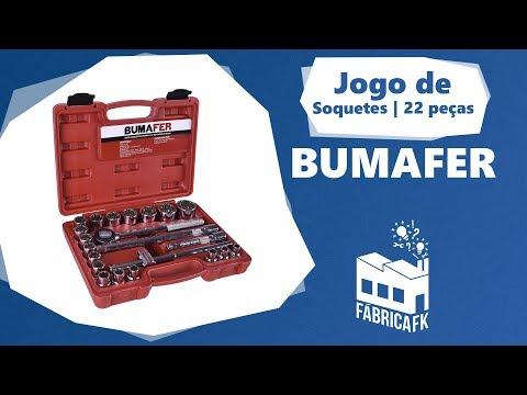 """Jogo Soquete Estriado 1/2"""" 8-32Mm Bumafer 22 Peças - Vídeo explicativo"""