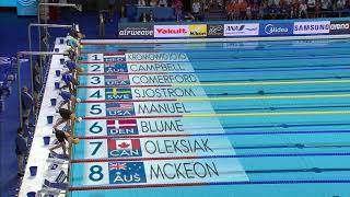 Simon Manuel 🇺🇸 Women's 100m Freestyle Final Fina 2017 World Swimming Championship Budapest