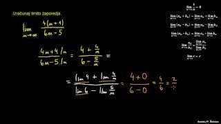 Računanje limite zaporedja 2