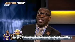 UNDISPUTED on FS1 | Shannon on Fair to question LeBron's priorities at this stage of his career?