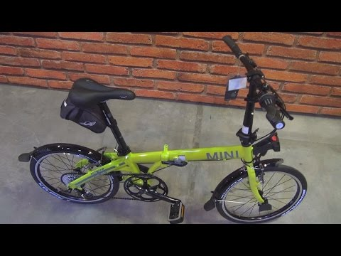MINI Folding Bike Lime Green (2016) Exterior and Interior in 3D