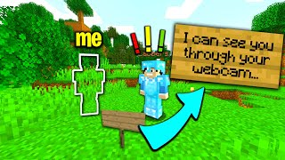 I trolled my minecraft friend with this hilarious invisibility plugin