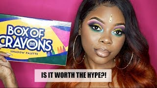 The Crayon Case: BOX OF CRAYONS PALETTE! Review & Tutorial | Jamiiiiiiiie