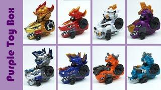 8x Dinosaur Combination Robot, Gold Siver Dino Core Dinosaur Transformer Robot Toys