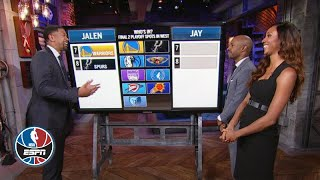 Warriors, Spurs, Pelicans among Jalen and J-Will's teams fighting for a playoff spot | NBA Countdown