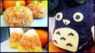 Halloween Onigiri (Rice Balls) |ハロウイーンテーマのおにぎり